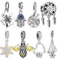 ELESHE 925 argent Sterling rêve arbre généalogique abeille amour coeur pendentif perle Fit Original Pandora bracelet à breloques bijoux accessoires