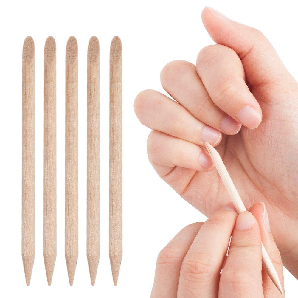 10/30/50 шт оранжевый деревянные палочки для кутикулы ногтей средство для удаления кутикул инструмент с нарезкой на обоих концах для ногтей