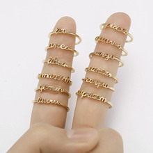 Minimalist Star Signs Open Finger Rings For Women Minimalist Adjustable Zodiac Rings Gold Color 12 Constellation Jewelry Gifts