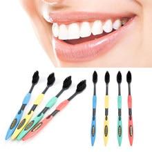 4 Pçs/set Ultra Macio escova de Dentes Conjunto de Carvão De Bambu Escova Nano Atendimento Odontológico Escova de Dentes Escova de Cabelo Macio Eco Friendly Escova de Limpeza Bucal