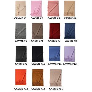Image 2 - CAVME TOP Grade 100% Cashemere Sjaal voor Meisjes Jongen Kids Rode Kerst Effen Kleur Sjaals Gift 28*180cm 120g CUSTOM Brief