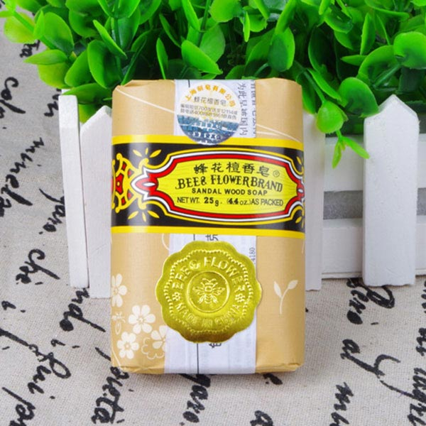 Hot Sale 25g Mini Soap Bee Flower Sandalwood Acne Soap Bath Removing Mites Travel Package Toilet Soaps