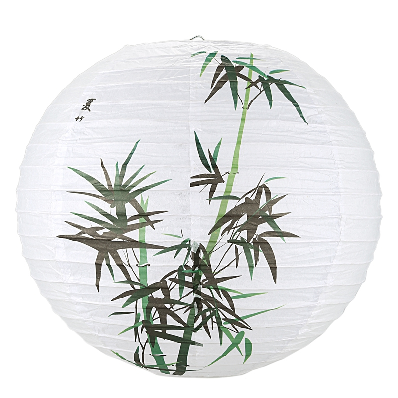 Hot 35cm Lamp Shade Paper Lantern Oriental Style Light Decoration, Bamboo