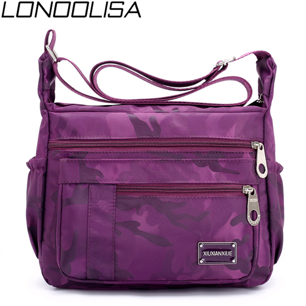 Casual Crossbody Bags For Women Waterproof Nylon Fabric Shoulder Bag Bolsa Feminina High Quality Ladies Zipper Bag Sac femme