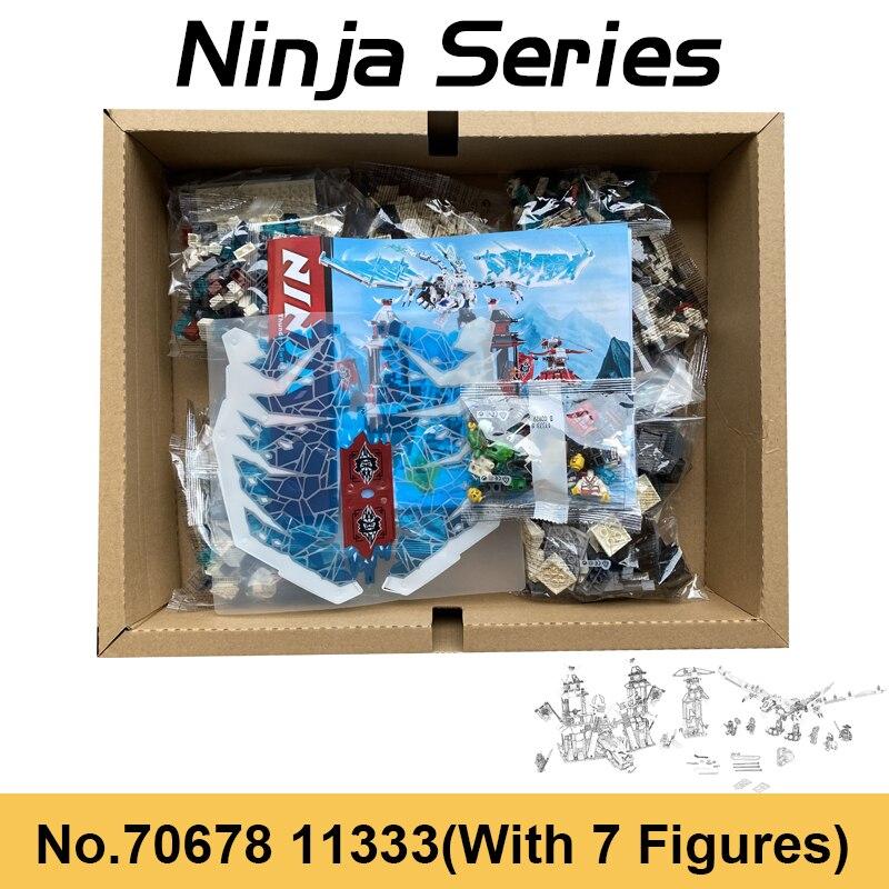1260 pçs ninja castelo de neve gelo