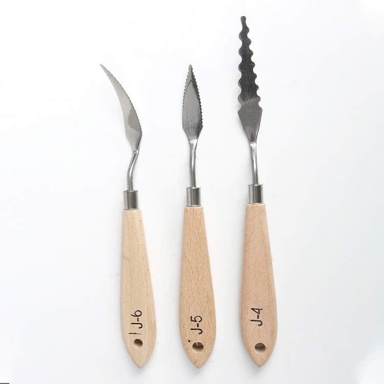 10 Model 1 Pcs Single Branch Special-shapedoil Painting Scraper Pigment Palette Oil Painting Knife Texture Knife Art Supplies