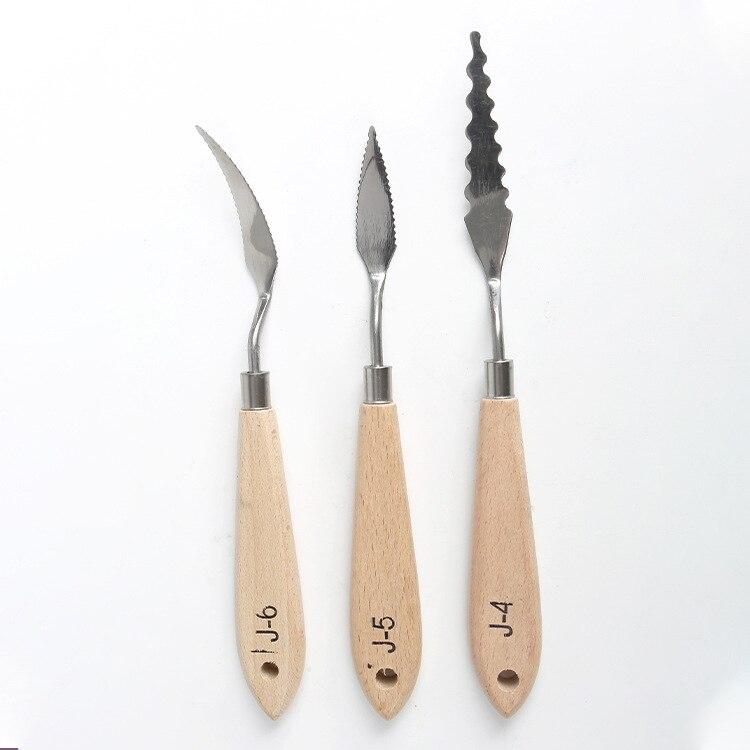 10 Model 1 Pcs Single Branch Special-shapedoil Painting Scraper Pigment Palette Oil Painting Knife Texture Knife Art Supplies