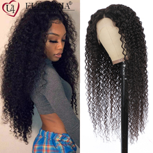 Wigs Human-Hair EUPHORIA Lace-Part Body-Wave Kinky Curly Natural-Color Straight Brazilian