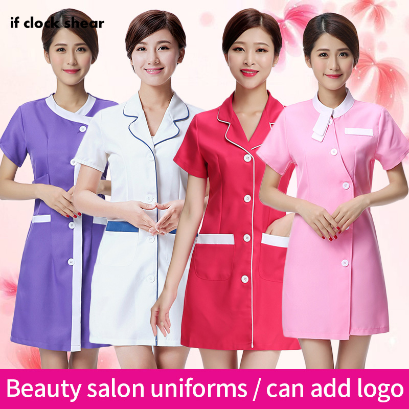 Famale Spa Uniform Beauty Salon Work Clothes Medical Surgical Scrubs Workwear Pharmacy Hospital Clothing Beautician Dress Women