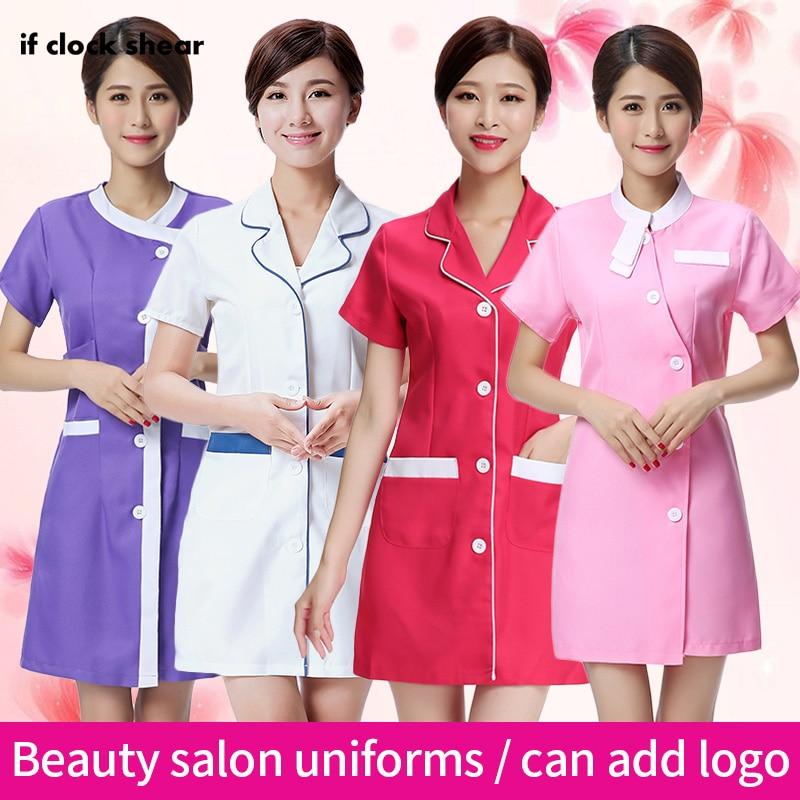 Famale Spa Uniform Beauty Salon Work Clothes Medical Surgical Scrubs Workwear Pharmacy Hospital Clothing Beautician Dress Women