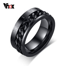 Vnox в стиле рок панк мужское Спиннер кольцо из нержавеющей