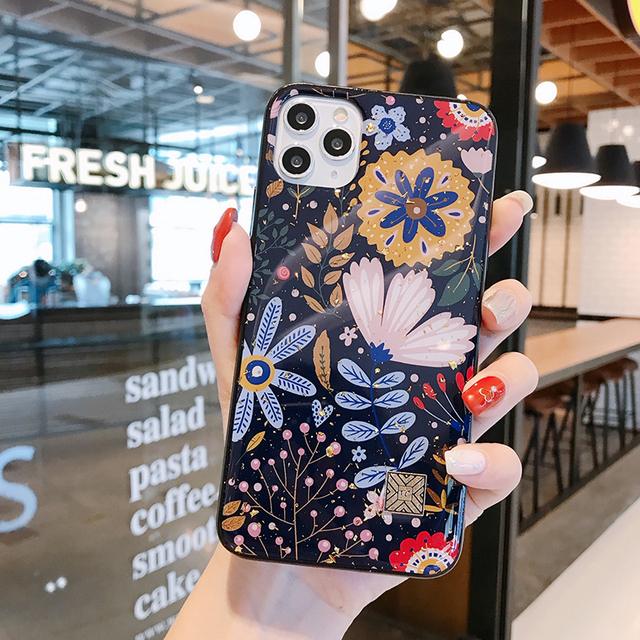 Chic Marble Gold Foil Phone Cases for iPhone 12 11 Pro Max XR X 8 7 6 Plus Glitter Soft Silicone Cover for iPhone XS Max SE 2020 3