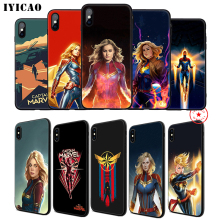 IYICAO Captain Marvel Soft Phone Case for iPhone 11 Pro XR X XS Max 6 6S 7 8 Plus 5 5S SE Silicone TPU