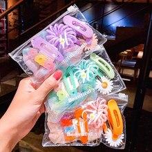 6 adet/takım moda çocuk çiçek saç tokası kafa takı şeker renk klip saç aksesuarları bebek kafa bandı bebek doğum günü hediyeleri 2020