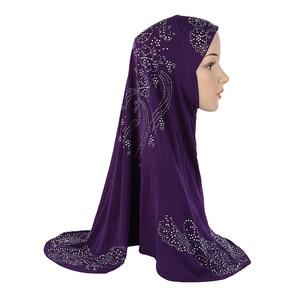 Image 2 - Hiyab de diamante de imitación musulmán mujeres una pieza Amira pañuelo islámico chal envoltura Khimar árabe oración gorra Hijab pecho cubierta Ramadán