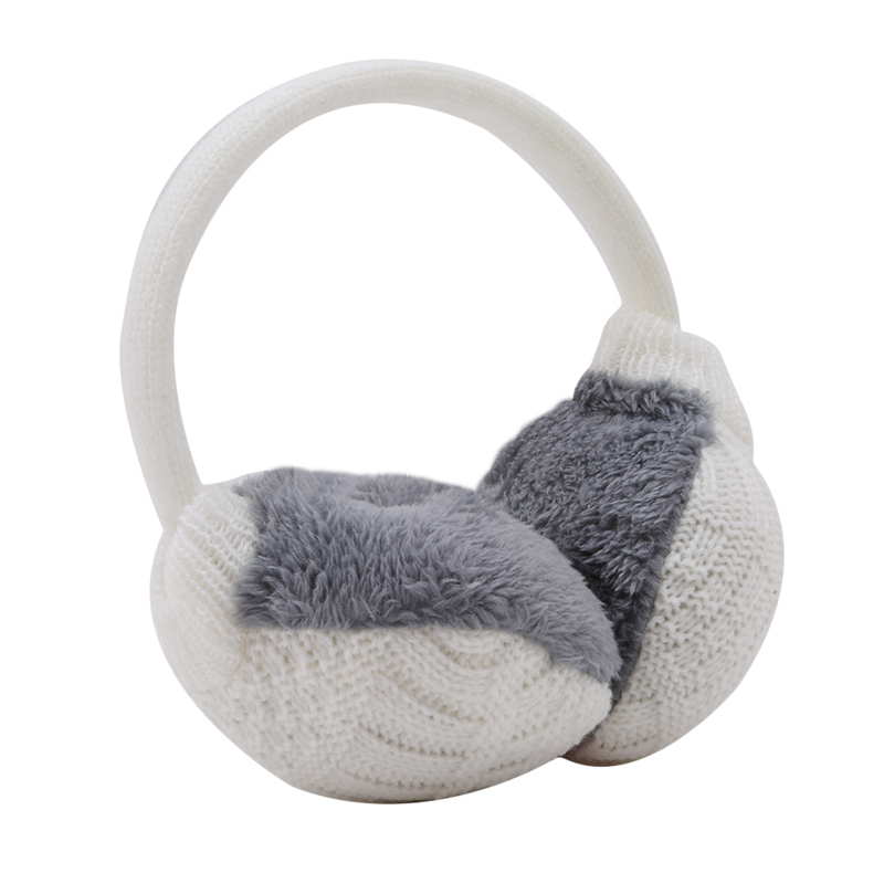 Winter Cute Warm Ear Muffs Winter Cover Women Warm Knitted Earmuffs Ear Warmers Women Plush Ear Muffs Earlap Warmer Headband