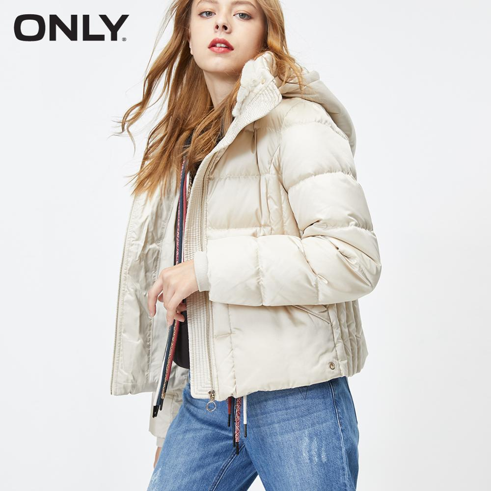 ONLY Winter Women's Short White Duck Down Jacket | 119323538