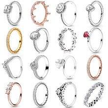 Octbyna venda quente coroa anéis de dedo para mulheres meninas cintilante zircão marca anéis casamento noivado jóias presente dropshipping