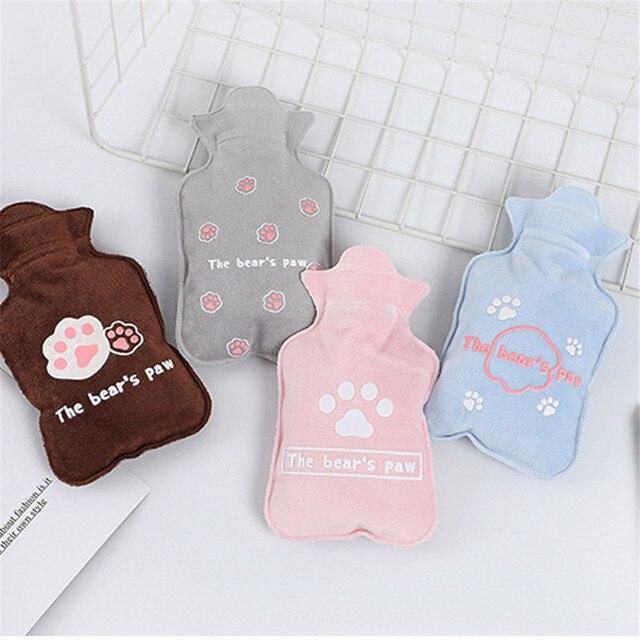 300 ml butelka gorącej wody Cute Cartoon przenośna zimna torba polarowa dla kobiet termofor ręczny bezpieczny przeciwwybuchowy