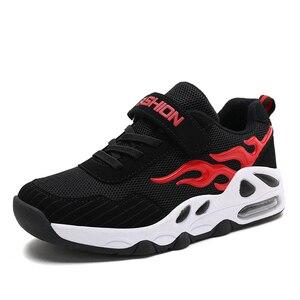 Image 1 - 2019 moda nefes spor ayakkabılar erkek okul ayakkabısı bahar büyük çocuk ayakkabı çocuk koşu ayakkabıları erkekler için boyutu 29 39 B55