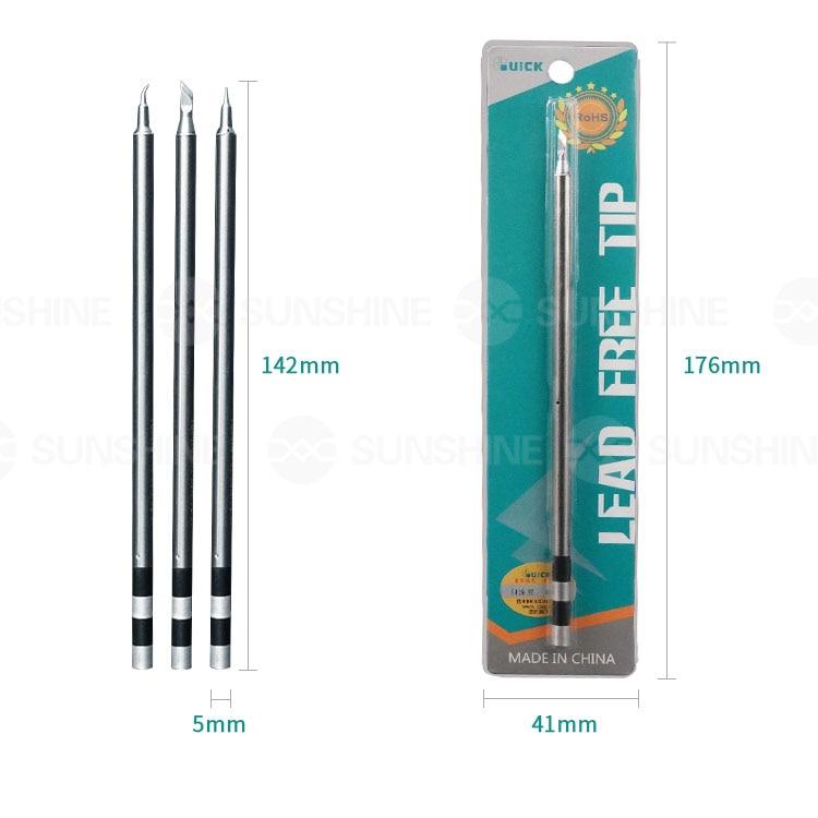 Original QUICK TS1200A Lead Free Solder Iron Tip Handle Welding Pen Tools TSS02B-I-02  TSS02B-SK-02  TSS02B-J-02
