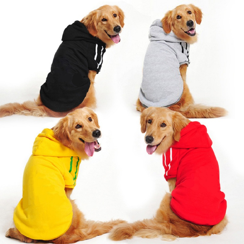 شتاء دافئ كبير الكلب الملابس الكلب هوديي معطف سترة للكلاب الكبيرة ملابس الحيوانات الأليفة الذهبي المسترد لابرادور ألاسكا