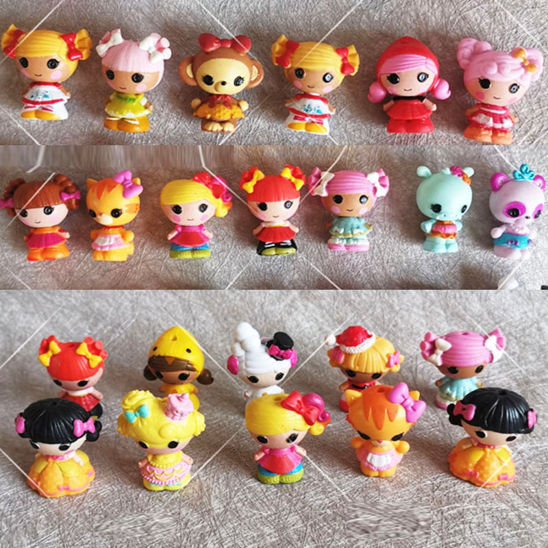 Random LOT 10Pcs Lalaloopsy Dolls 1.5/'/' Mini Figure Cute Doll Cake topper Toys