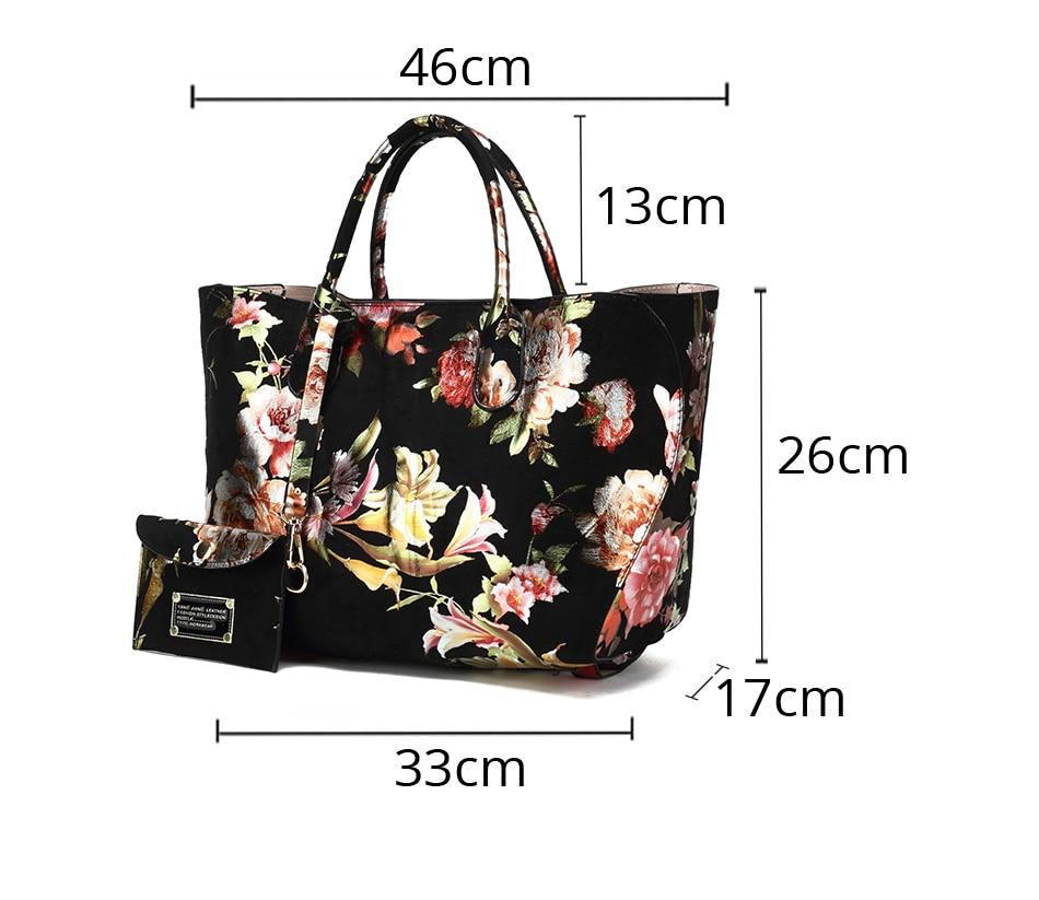Flowers Female Messenger Handbag