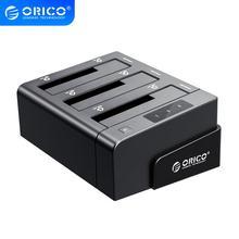 ORICO 3 מפרץ USB 3.0 HDD Dock תחנת עבור 2.5 3.5 אינץ SATA כונן קשיח HDD תמיכת שיבוט עם 12V5A כוח מתאם תמיכה 18TB