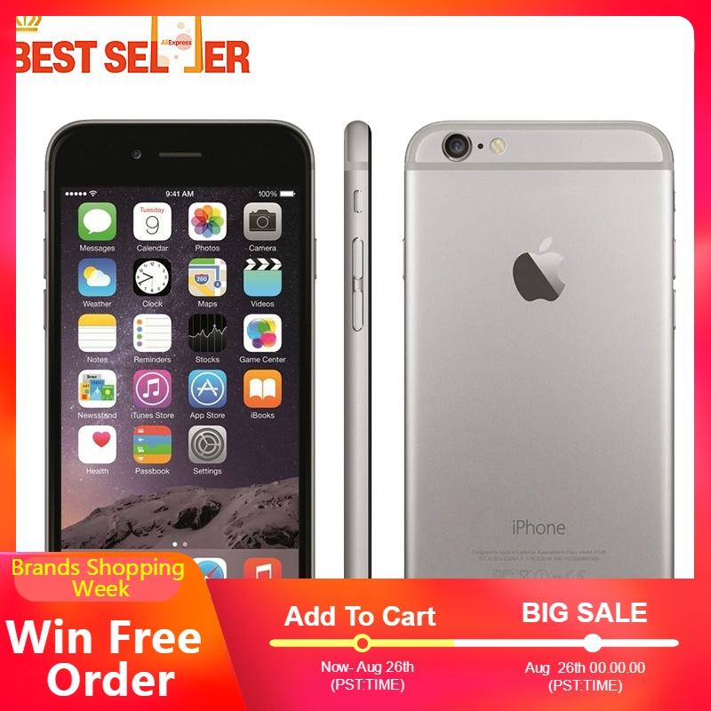 Apple A8 Unlocked iPhone 6 4G LTE 16gb Dual Core Fingerprint Recognition 8mp Refurbished