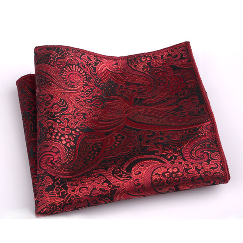 Vintage Print Handkerchief Wedding Polyester Striped Hanky Men's Fashion Pocket Square Towel  Luxury Chest Towel High Quality