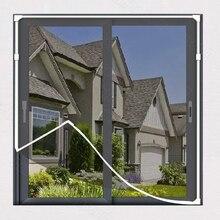 DIY Magnetic Mosquito net window screen Fiberglass screen mosquito window net , Customizable