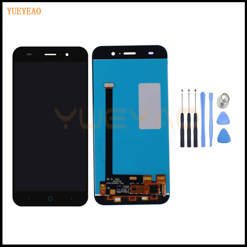 YUEYAO 5.0 inch Black Full LCD DIsplay + Touch Screen Digitizer Assembly Replacement For ZTE Blade X7 D6 V6 Z7 T660 T663 LCD image
