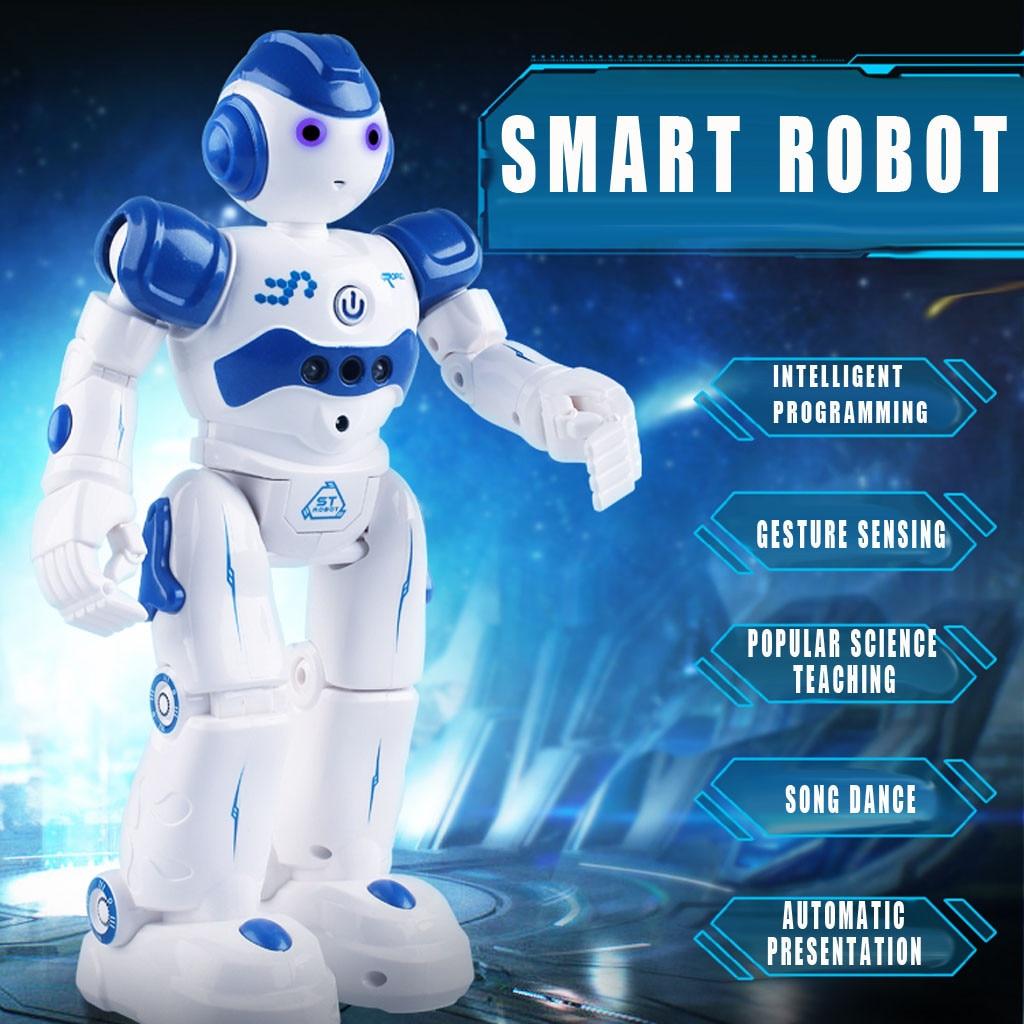Remote Control Intelligent Robot USB Charging Children's Toy Dancing Singing Electronic Robot Gesture Sensing Toys H1212