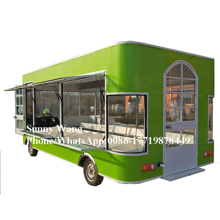 Mobile Food Van With Snack Machines Vegetable Selling Cart Fruit Service Truck