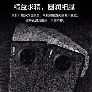 Image 5 - Huawei P30 Pro pencere görünümü akıllı kapak çevirin Huawei P20 P30 Mate 20 Mate 30 Pro orijinal deri kılıf Wake up kılıfları