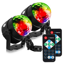 цены Mini 3W RGB Led Disco Light Stage Lights DJ Disco Ball Sound Activated Laser Projector Effect Lamp Light Music Christmas Party