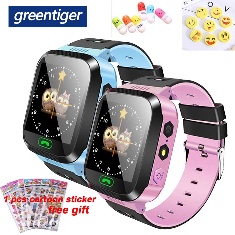 Greentiger Q02 Children Smart Watch Camera Lighting Touch Screen SOS Call  LBS Tracking Location Finder Kids Baby Smart Watch-in Smart Watches from Consumer Electronics on AliExpress