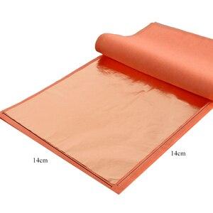 Image 2 - 400 livrets Imitation feuille dor feuilles 25 pièces/livret 14X14cm et 16x16cm feuille de cuivre rouge #0 pour Art artisanat papier décoration de la maison