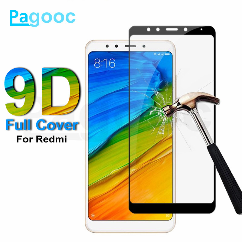 9D Tempered Glass On The For Xiaomi Redmi 5 Plus 5A S2 4A 4X GO Redmi Note 4 4X 5 5A Pro Screen Protector Safety Protective Film