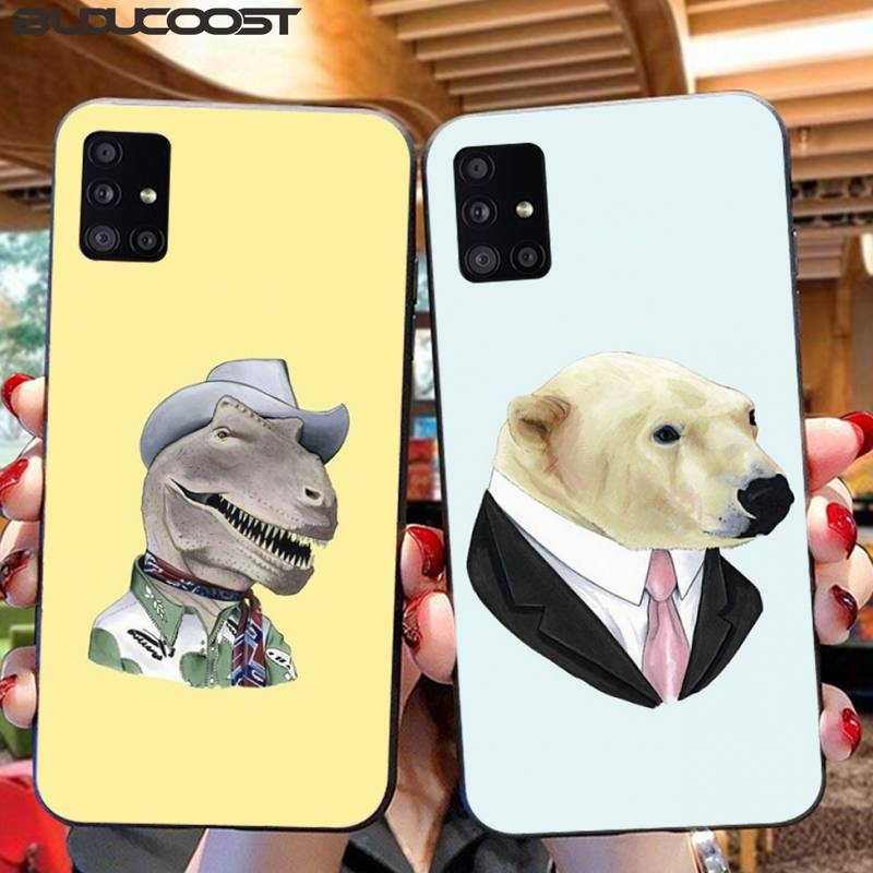 Cute Animal Dress Up Phone Case For Samsung A10 20 30 40 50 70 10S 20S 2 Core C8 A30S A50S A7 8 9 2018 STAR