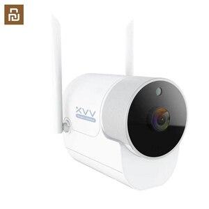 Image 1 - Xiaovv наружная панорамная камера наблюдения камера 1080P беспроводная WIFI Высокая четкость ночного видения работа для приложения Mijia