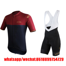 le col pro team cycling jersey MTB mens bicycle clothes aero downhill maillot ciclismo 9D Pad bib short mountain Cyling sets