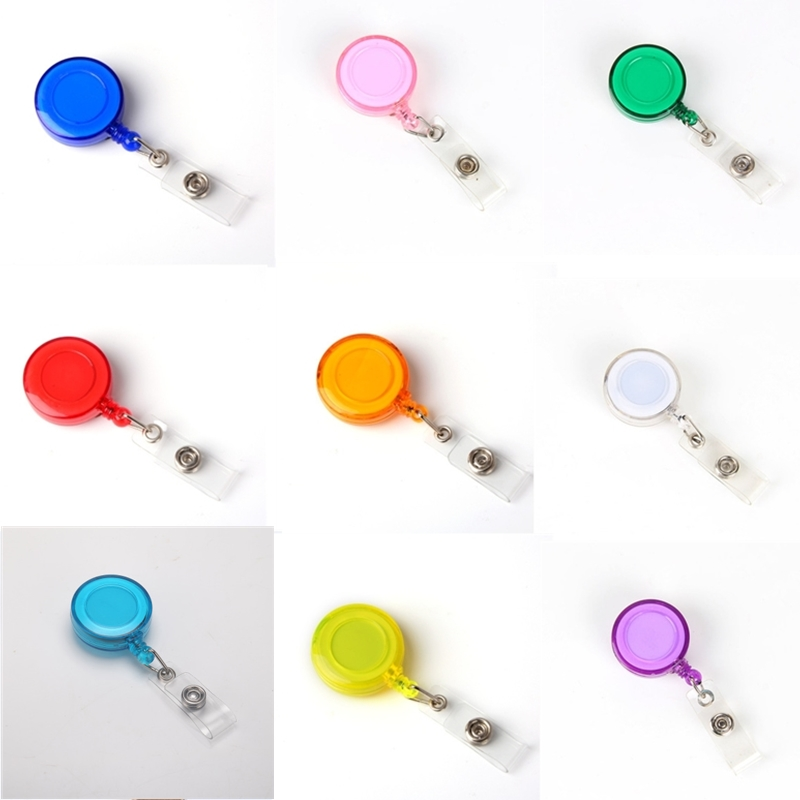 10 Pcs/lot Retractable Badge Reel Pull Key Name Tag Card Holder For School Office Company