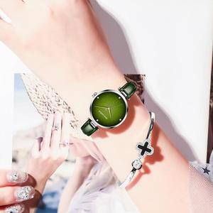 Image 5 - DOM Top Luxury Fashion Female Quartz Wrist Watch Elegant Green Women Watches Leather Waterproof Clock Girl Pattern Watch G 1292