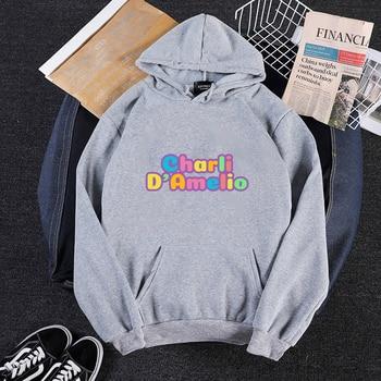 Pink Clothes Hoodie Women Sweatshirt Charli Damelio Mens Hip Hop Hoodies Moletom Feminino Sudadera Oversized  Winter Jacket Coat 11