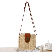 цены Straw Bags Mini Woven Flap Sweet Pastoral Style Rattan Bag bolso mimbre Candy Color Shoulder Bag Hand Made Exquisiteness