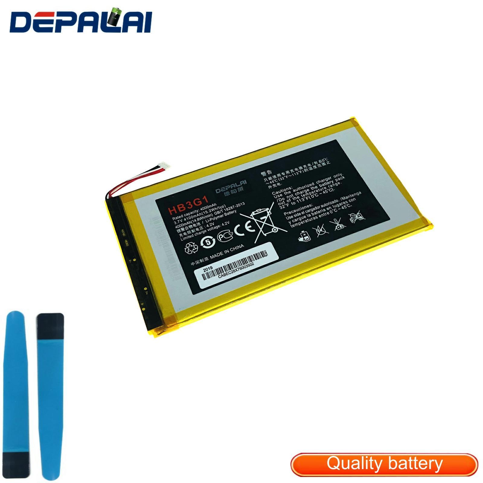 Good Quality 4100mAh HB3G1 Battery For Huawei MediaPad 7 Lite S7-301u 301w 302 303 Tablet PC HB3G1H Bateria Batterij Accumulato