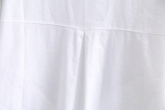 White Long Sleeve Blouse Shirt Women Oxford Shirts Pockets Loose Plus Size Casual Shirts Turn-down Collar KKFY4774 6