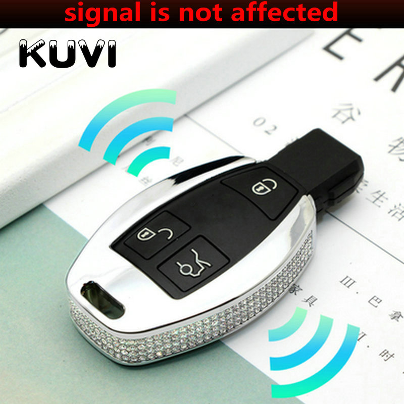 Luxury Diamond Auto Key Crystal Shell Car Smart Key Case Cover for Mercedes Benz A B C E ML GL S GLA GLK CLS CLA W204 W205 W212 in Key Case for Car from Automobiles Motorcycles